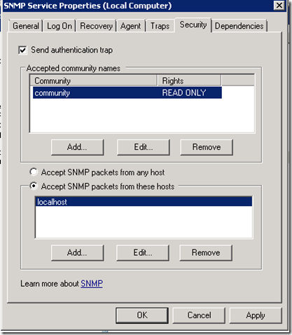 Configuring HP BladeSystem Management Pack for SCOM – Cloud