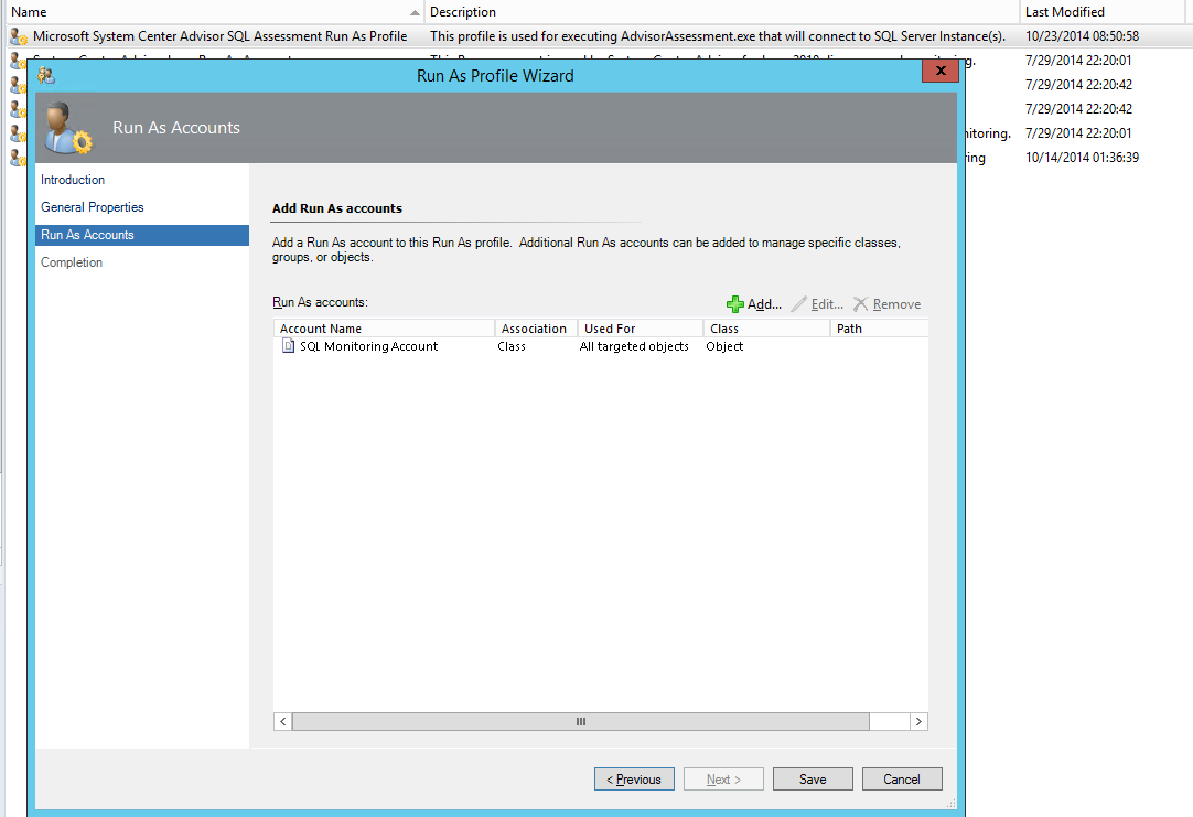 SQL Advisor Account